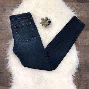 J. Crew Toothpick Midrise Skinny Tall Blue Jeans